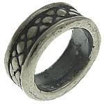 925 Sterling Silver Beads, Tajlandë, Tub, vrimë e madhe, 7.50x7.50x3mm, : 5.8mm, 10PC/Qese,  Qese