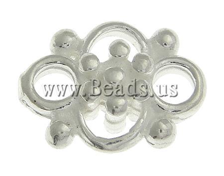 925 Sterling Silver Mbulim Gjuhësh, argjend praruar vërtetë, sythe multi, asnjë, 9x6.60x3mm, : 2mm, 10PC/Qese,  Qese