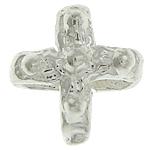925 Sterling Silver Mbulim Gjuhësh, Kryq, argjend praruar vërtetë, sythe multi, asnjë, 5.50x5.50x3.50mm, 30PC/Qese,  Qese