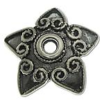 Bali Sterling Silver Bead Caps, Tajlandë, Lule, asnjë, asnjë, asnjë, 13.10x13.10x2.80mm, : 1.5mm, 5PC/Qese,  Qese