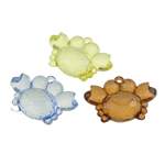 Pendants akrilik, Kafshë, i tejdukshëm, ngjyra të përziera, 49x34x20mm, : 3mm, 51PC/Qese,  Qese