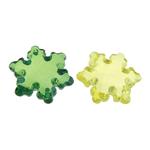 Pendants akrilik, Lule, i tejdukshëm, ngjyra të përziera, 24x27x9mm, : 1.5mm, 199PC/Qese,  Qese