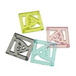 Mbulim Gjuhësh akrilik, Diamant, i tejdukshëm, ngjyra të përziera, 35x5mm, : 2mm, 172PC/Qese,  Qese