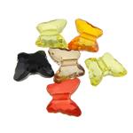 Beads transparente akrilik, Kafshë, i tejdukshëm, ngjyra të përziera, 12x10x5mm, : 2mm, 1710PC/Qese,  Qese