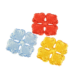 Beads transparente akrilik, Lule, i tejdukshëm, ngjyra të përziera, 40x7mm, : 1mm, 117PC/Qese,  Qese