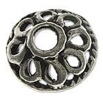 Bali Sterling Silver Bead Caps, Tajlandë, Lule, asnjë, asnjë, asnjë, 9.20x3.50mm, : 2.1mm, 10PC/Qese,  Qese