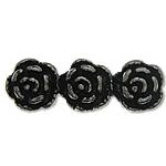 925 Sterling Silver Beads, Tajlandë, Lule, 3-fije floku, 17x5.80x4.90mm, : 1.2mm, 5PC/Qese,  Qese