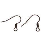 Tunxh Hook Earwire, ngjyrë bakri të praruar antike, asnjë, , nikel çojë \x26amp; kadmium falas, 8x15.20x0.60mm, : 2mm, 6000PC/Qese,  Qese