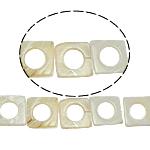 Beads Natyrore White Shell, Katror, asnjë, e bardhë, 25x3mm, : 2mm, :15.5Inç, 16PC/Fije floku,  15.5Inç,