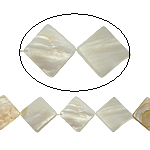 Beads Natyrore White Shell, Romb, asnjë, e bardhë, 26x3.50mm, : 2mm, :15.5Inç, 15PC/Fije floku,  15.5Inç,