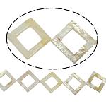 Beads Natyrore White Shell, Romb, asnjë, e bardhë, 30x3mm, : 2mm, :15.5Inç, 13PC/Fije floku,  15.5Inç,