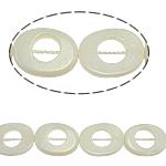 Beads Natyrore White Shell, Oval, asnjë, e bardhë, 15x20x3mm, : 2mm, :15.5Inç, 20PC/Fije floku,  15.5Inç,
