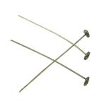 Zink Alloy Shef Pin, Alloy zink, Kube, Ngjyra antike bronz i praruar, asnjë, asnjë, , nikel çojë \x26amp; kadmium falas, 57x0.80mm, 100PC/Qese,  Qese