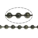 Tunxh Ball Chain, plumbit ngjyrë të zezë praruar, asnjë, , nikel çojë \x26amp; kadmium falas, 2.40mm, :100m,  Shumë