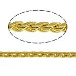 Snake Zinxhiri tunxh, ngjyrë ari praruar, asnjë, , nikel çojë \x26amp; kadmium falas, 1mm, :100m,  Shumë