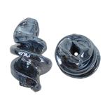Handgewickelte Perlen, Lampwork, Spirale, grau, 15x29mm, Bohrung:ca. 2mm, 100PCs/Tasche, verkauft von Tasche
