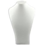 Lëkure gjerdan Display, Lëkurë, Bust, asnjë, asnjë, e bardhë, 290x180mm, 3PC/Qese,  Qese