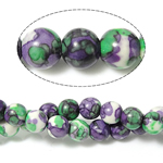 Rain Beads lule gur, Lule Rain Stone, Round, natyror, 4mm, : 0.5mm, : 15.5Inç, 10Fillesat/Shumë,  Shumë