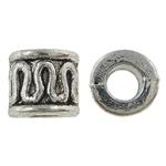 Beads Zink Alloy Tube, Alloy zink, Ngjyra antike argjendi praruar, asnjë, , nikel çojë \x26amp; kadmium falas, 5.50x5mm, : 3mm, 2000PC/KG,  KG
