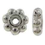 Beads Zink Alloy Spacer, Alloy zink, Lule, Ngjyra argjend praruar, asnjë, asnjë, , nikel çojë \x26amp; kadmium falas, 5x2mm, : 0.5mm, 6666PC/KG,  KG