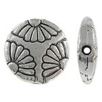 Beads aliazh zink Flat, Alloy zink, Monedhë, Ngjyra antike argjendi praruar, asnjë, , nikel çojë \x26amp; kadmium falas, 12x3.50mm, : 1.5mm, 555PC/KG,  KG