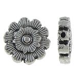 Beads Alloy zink Lule, Ngjyra antike argjendi praruar, asnjë, , nikel çojë \x26amp; kadmium falas, 12x4mm, : 0.5mm, 769PC/KG,  KG