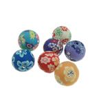 Beads polimer balta, Polymer Clay, Round, asnjë, ngjyra të përziera, 12-13mm, : 2mm, 100PC/Qese,  Qese
