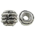 Beads bizhuteri Alloy zink, Daulle, Ngjyra antike argjendi praruar, asnjë, , nikel çojë \x26amp; kadmium falas, 4x4.50mm, : 1.5mm, 2000PC/KG,  KG
