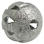 Tunxh Beads Stardust, Round, ngjyrë platin praruar, asnjë, , nikel çojë \x26amp; kadmium falas, 10mm, : 2mm, 300PC/Qese,  Qese