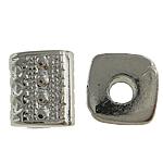 Verkupfertes Kunststoff-Perlen, Verkupferter Kunststoff, Rohr, Platinfarbe platiniert, frei von Nickel, Blei & Kadmium, 7x8mm, Bohrung:ca. 2.5mm, 5Taschen/Menge, 1000/Tasche, verkauft von Menge