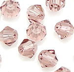 Bicone Beads Crystal, Kristal, asnjë, faceted, Vintage Rose, 3x4mm, : 0.5mm, 720PC/Qese,  Qese