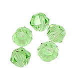 Bicone Beads Crystal, Kristal, asnjë, faceted, Peridot, 3x4mm, : 0.5mm, 720PC/Qese,  Qese