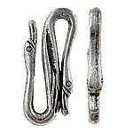 Kapje aliazh zink S, Alloy zink, Ngjyra antike argjendi praruar, asnjë, , nikel çojë \x26amp; kadmium falas, 25x10x3.50mm, 333PC/KG,  KG