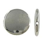 Verkupfertes Kunststoff-Perlen, Verkupferter Kunststoff, Münze, Platinfarbe platiniert, frei von Nickel, Blei & Kadmium, 25x5mm, Bohrung:ca. 2mm, 5Taschen/Menge, 200/Tasche, verkauft von Menge