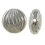 Veshura bakri Beads plastike, plastike bakrit të veshura, Monedhë, ngjyrë platin praruar, asnjë, asnjë, , nikel çojë \x26amp; kadmium falas, 14x7mm, : 0.5mm, 500PC/Qese,  Qese