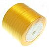 Saten Ribbon, të verdhë të artë, 6mm, :250Oborr, 10PC/Shumë,  Shumë
