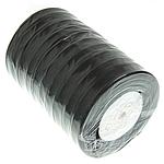 Organza Ribbon, e zezë, 12mm, :500Oborr, 10PC/Shumë,  Shumë