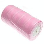 Organza Ribbon, rozë, 40mm, :250Oborr, 5PC/Shumë,  Shumë