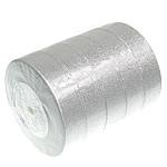 Ribbon Sparkle, argjend, 25mm, :125Oborr, 5PC/Shumë,  Shumë