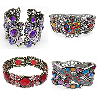 Acrylic Zinc Alloy Bangle
