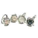 Ujërave të ëmbla Pearl Ring Finger, with Pearl kulturuar ujërave të ëmbla, 18x20mm, 5PC/Qese,  Qese