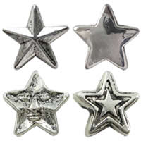 Zinc Alloy Star Beads