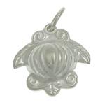 925 Sterling Silver varëse, Kafshë, argjend praruar vërtetë, asnjë, 13x13x5.50mm, : 4mm, 3PC/Qese,  Qese