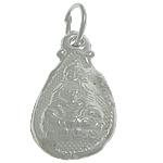 925 Sterling Silver varëse, Lot, argjend praruar vërtetë, asnjë, 9x15.70x4.70mm, : 3.5mm, 3PC/Qese,  Qese
