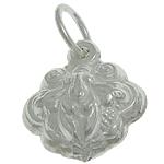925 Sterling Silver varëse, argjend praruar vërtetë, asnjë, 10.60x12.40x6.50mm, : 3.5mm, 3PC/Qese,  Qese