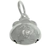 925 Sterling Silver varëse, argjend praruar vërtetë, 8.20x10x5.30mm, : 3mm, 5PC/Qese,  Qese