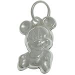 925 Sterling Silver varëse, Mickey Mouse, argjend praruar vërtetë, 7.50x12x3.50mm, : 3.5mm, 5PC/Qese,  Qese