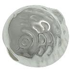 925 Sterling Silver Beads, Peshk, argjend praruar vërtetë, 8.10x8.40x6.20mm, : 2mm, 5PC/Qese,  Qese