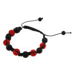Glass Shamballa Bracelets, Akrilik, Kryq, 10mm, :7.5Inç,  7.5Inç,
