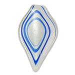 Pendants Silver Lampwork petë, 33x60x5mm, : 7mm, 12PC/Kuti,  Kuti